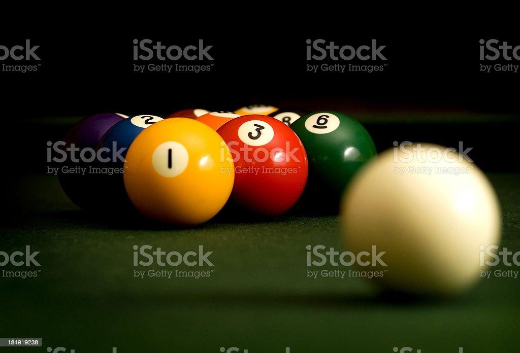 Nine Ball royalty-free stock photo