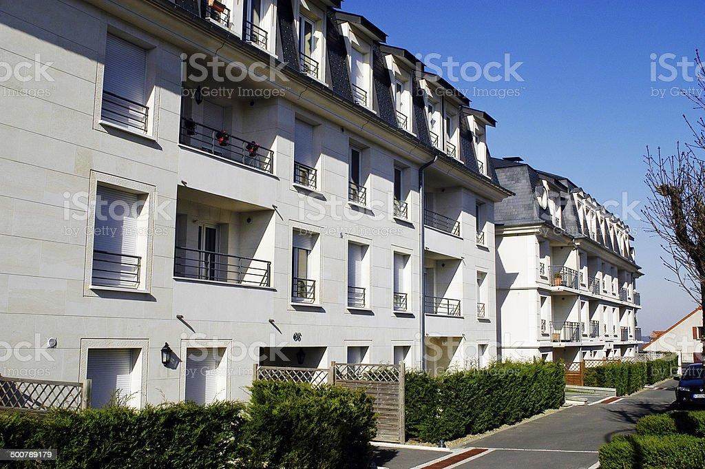 nine buildings stock photo