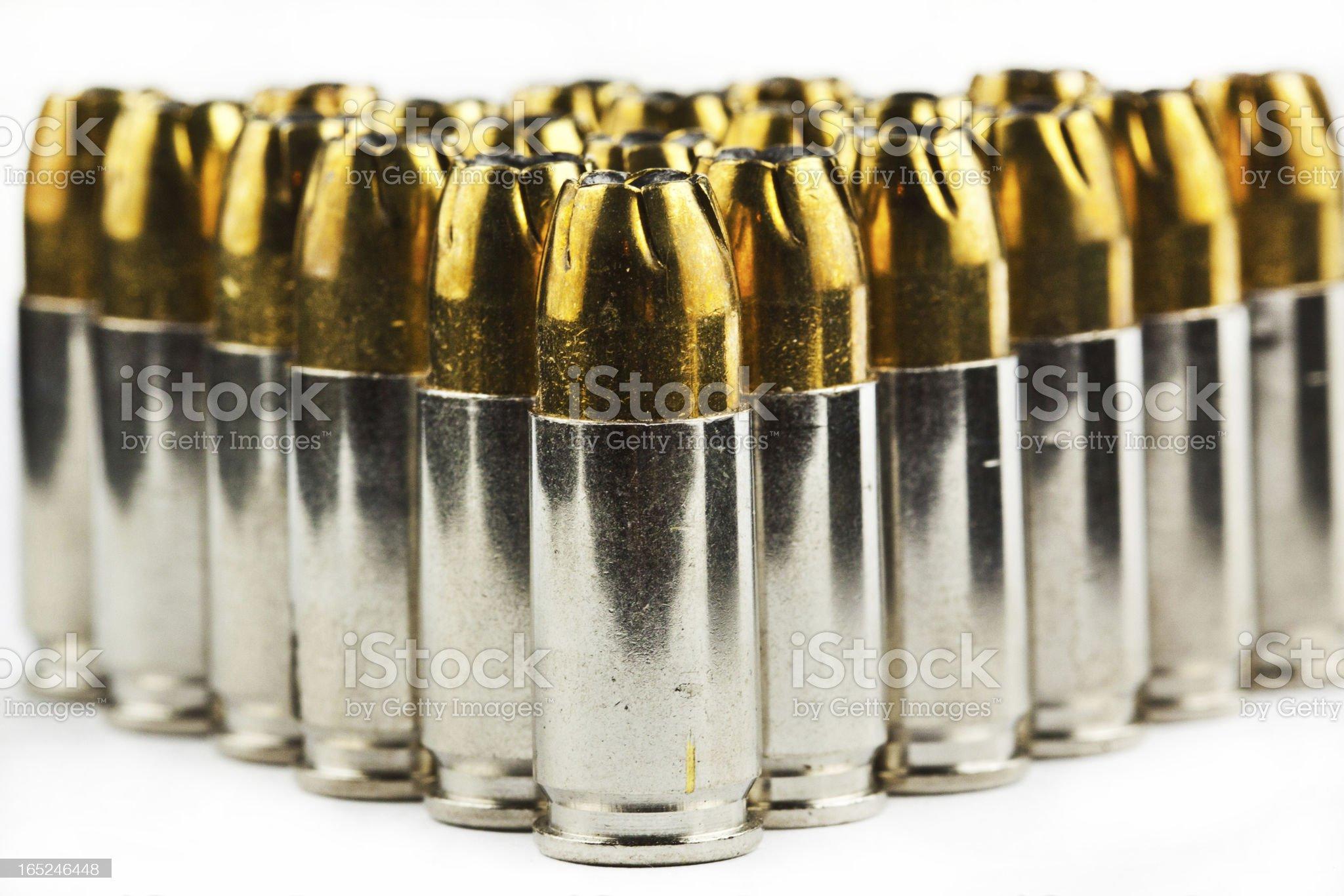 nine mm bullets royalty-free stock photo