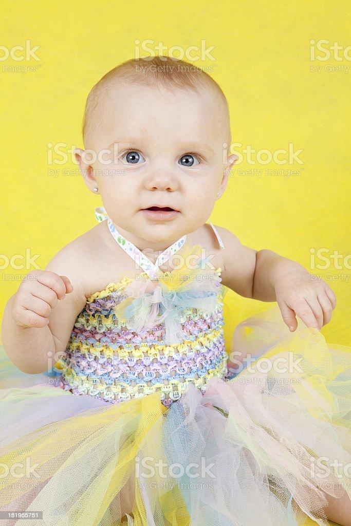 Nine Month Old Baby Girl Portrait stock photo