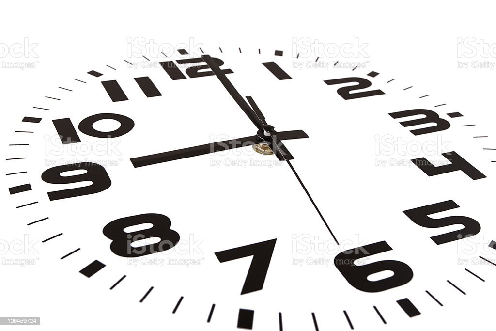 Nine o'clock stock photo