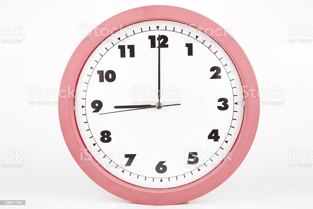 nine o'clock stock photo