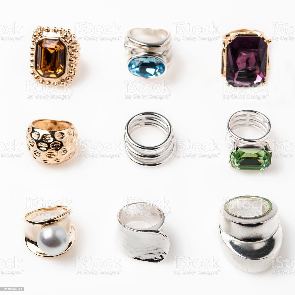nine rings stock photo
