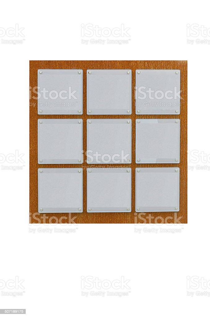 Nine signs on rusty metal wall royalty-free stock photo