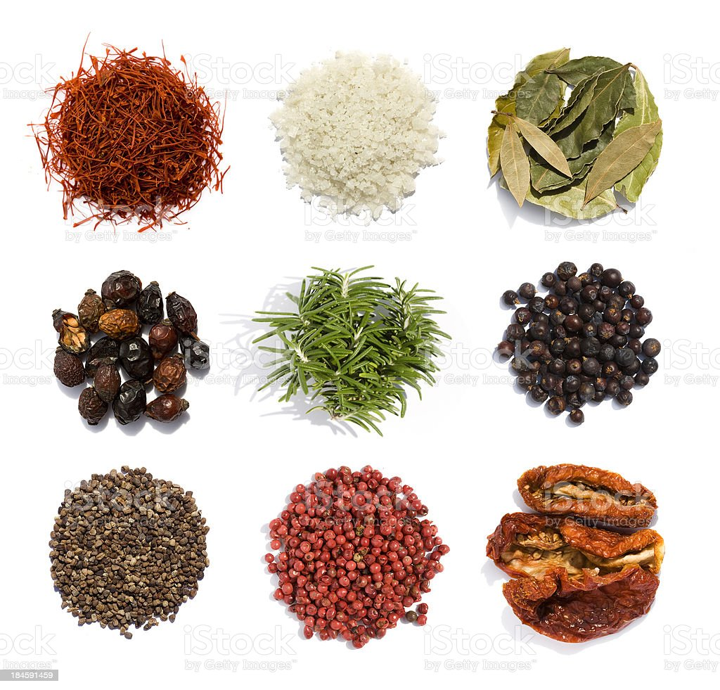 Nine spices stock photo