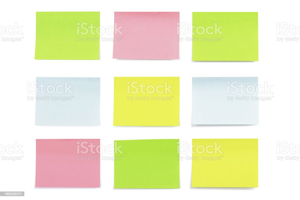 Nine stickers isolated on white royalty-free stock photo