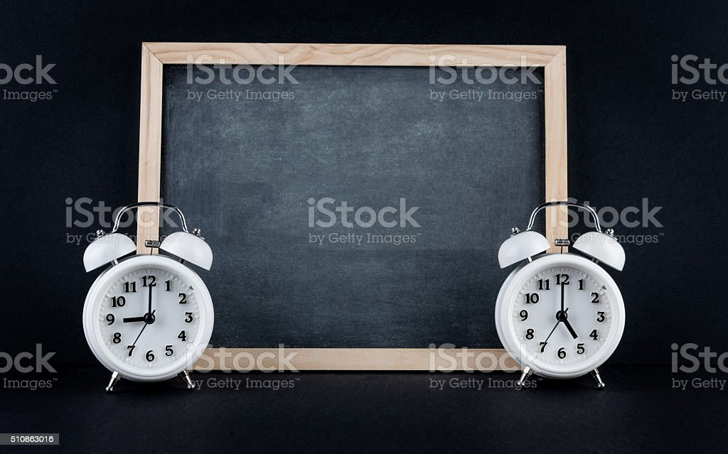 Nine to 5 corporate working hours concept stock photo