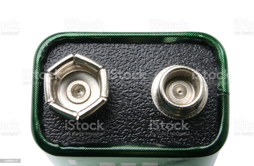 Nine volts battery stock photo