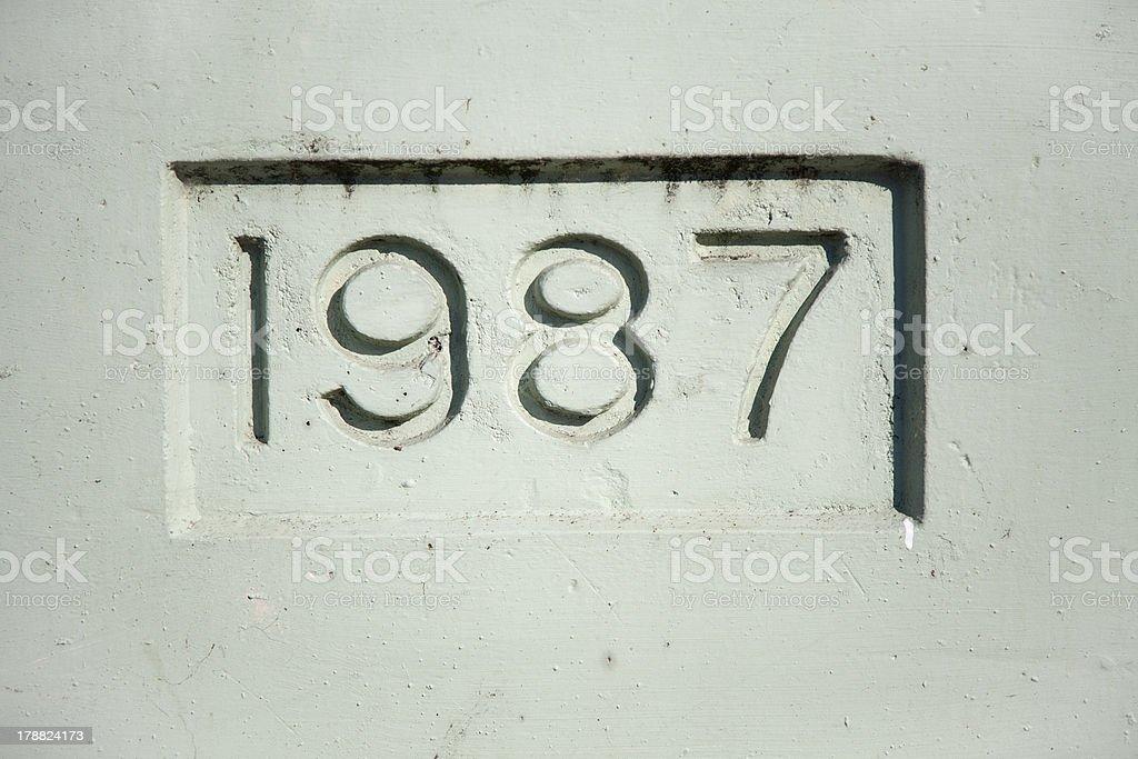 Nineteen Eighty Seven royalty-free stock photo