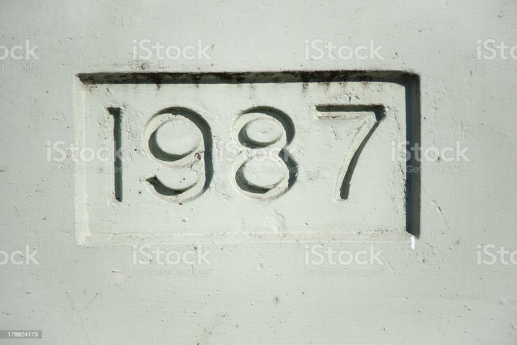 Nineteen Eighty Seven stock photo