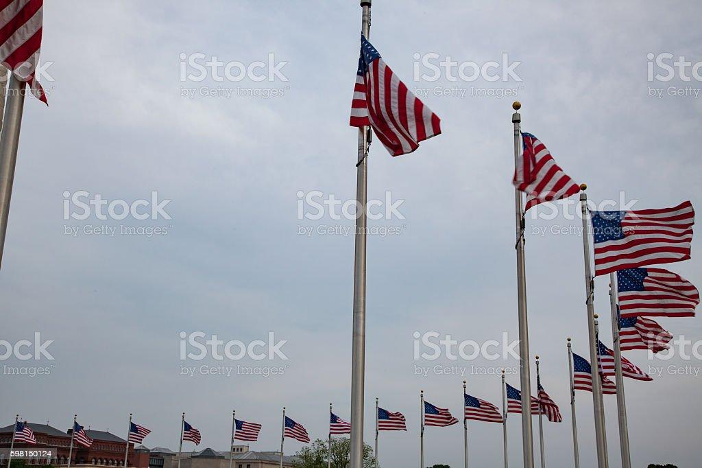 Nineteen Flags stock photo