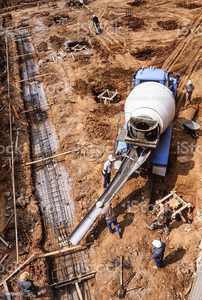 Nineteen Nineties Era Construction Site stock photo