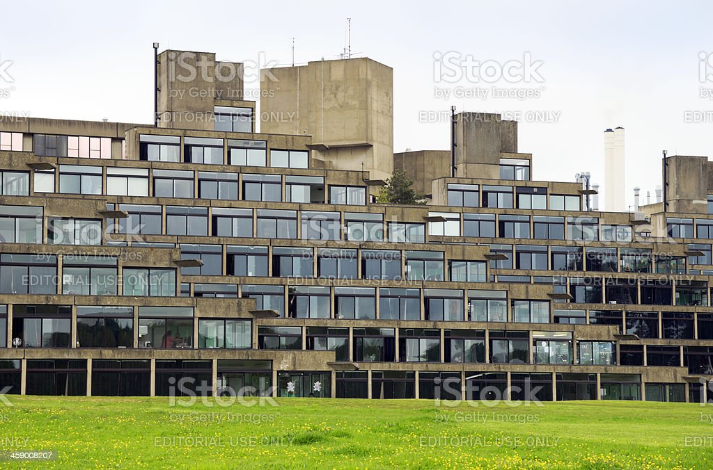 Nineteen sixties architecture at UEA stock photo