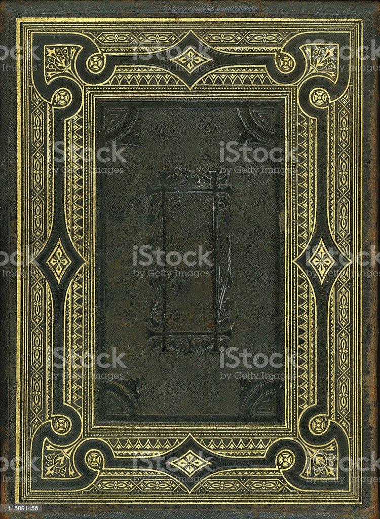 Nineteenth Century bible back cover stock photo