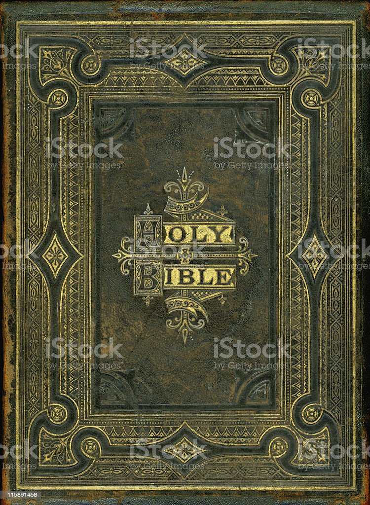 Nineteenth Century bible cover stock photo