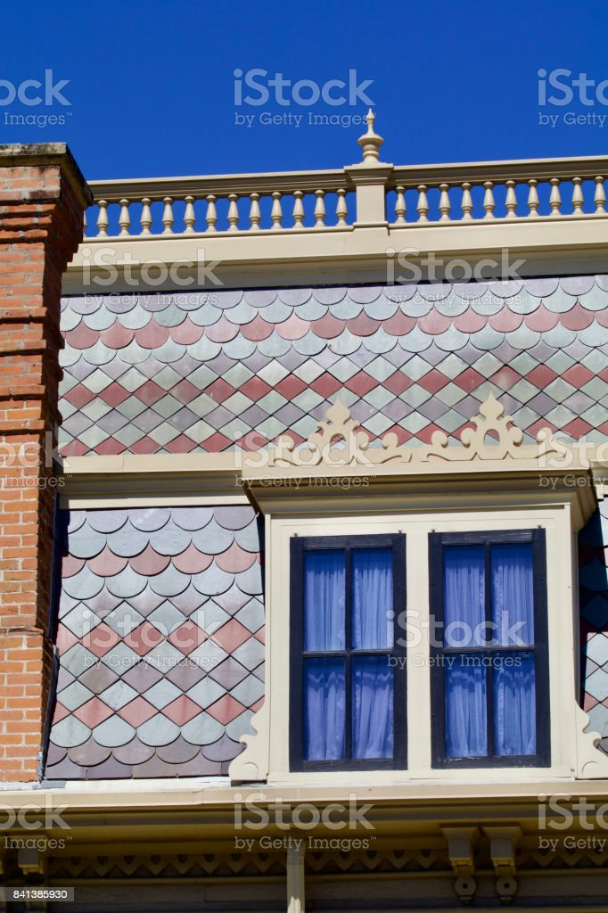 Nineteenth century house facade stock photo