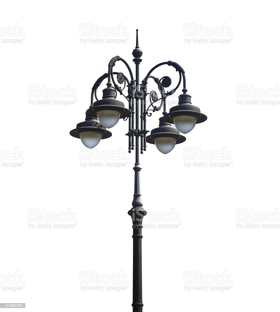 Nineteenth century street lamppost royalty-free stock photo