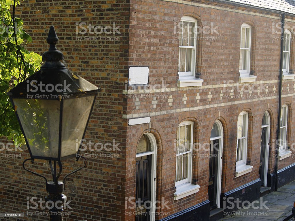 Nineteenth century Victorian terraced houses in Chester. stock photo