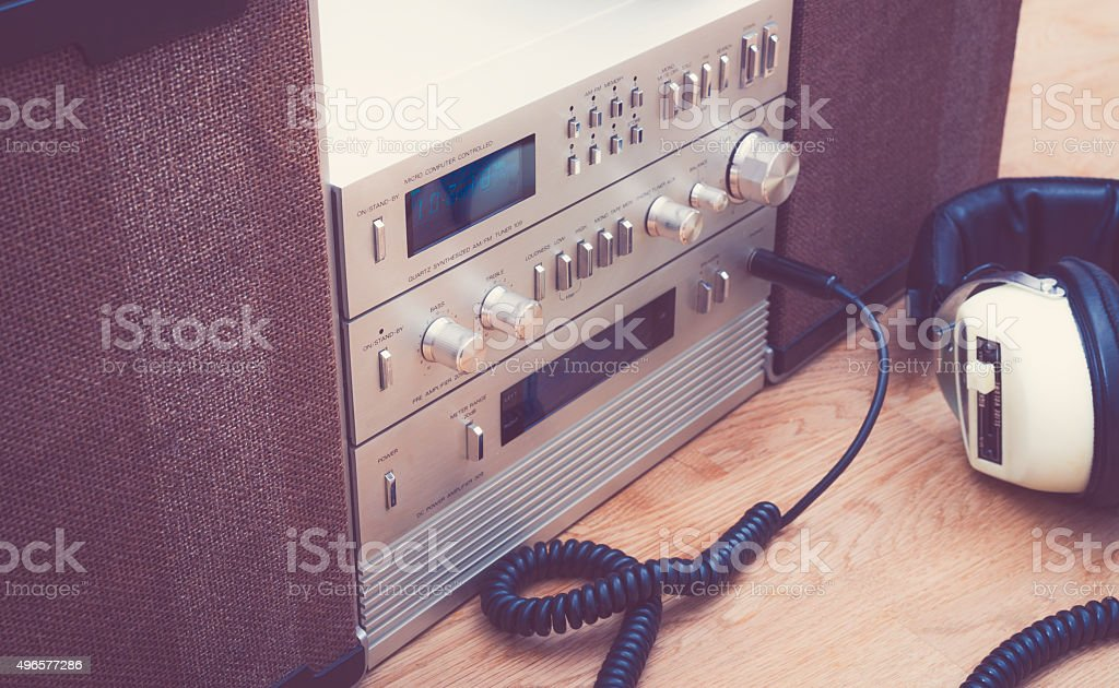 Nineties HiFi stereo set stock photo