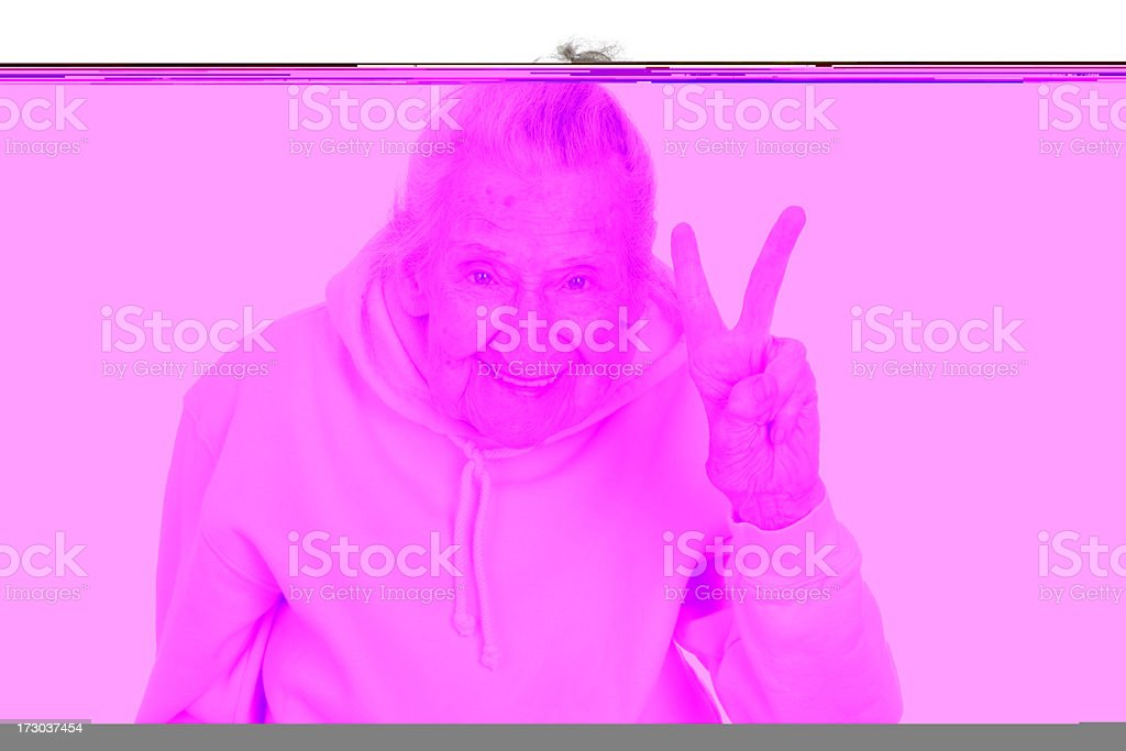 Ninety one years young royalty-free stock photo