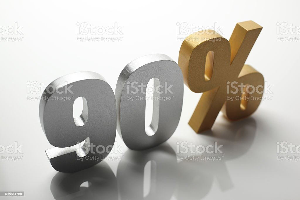 Ninety Percent stock photo
