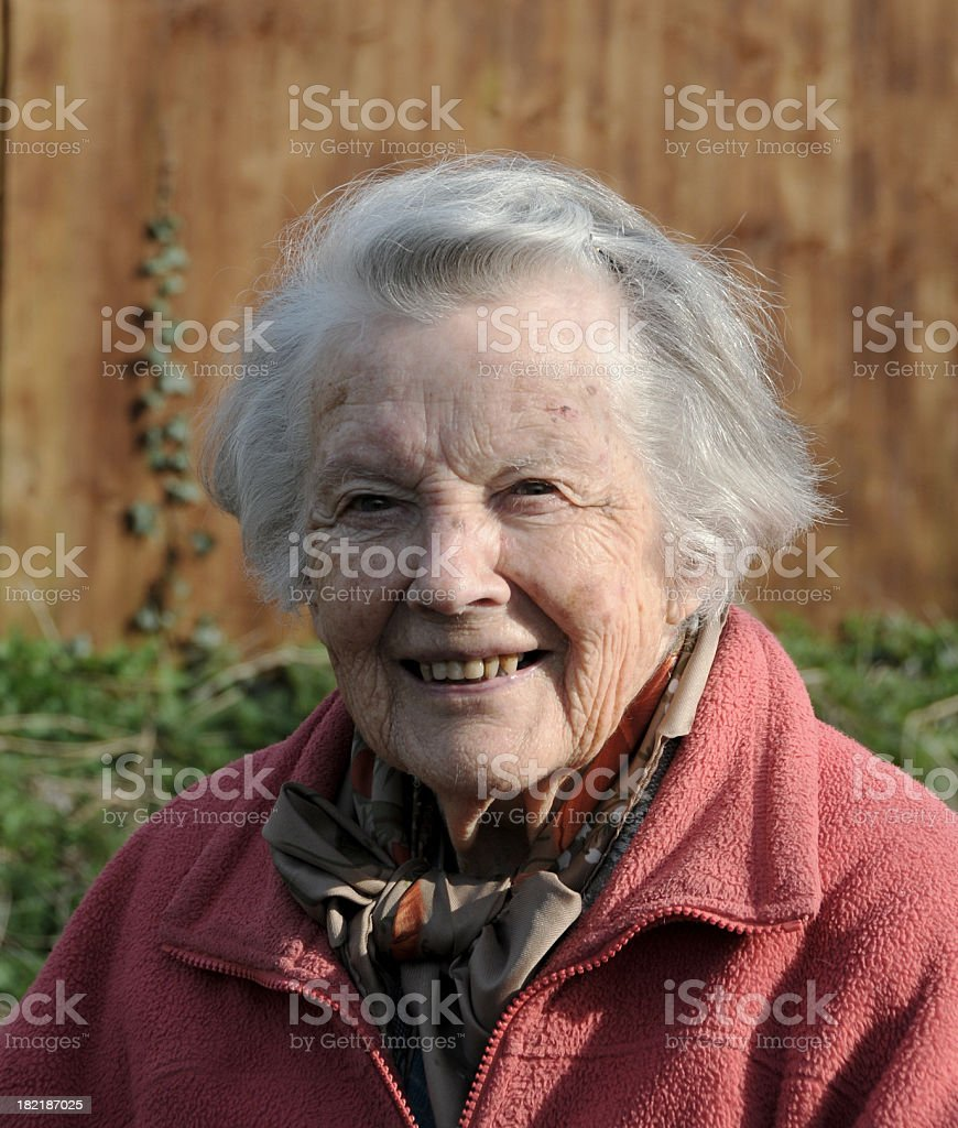 Ninety-Three Year Old Woman royalty-free stock photo