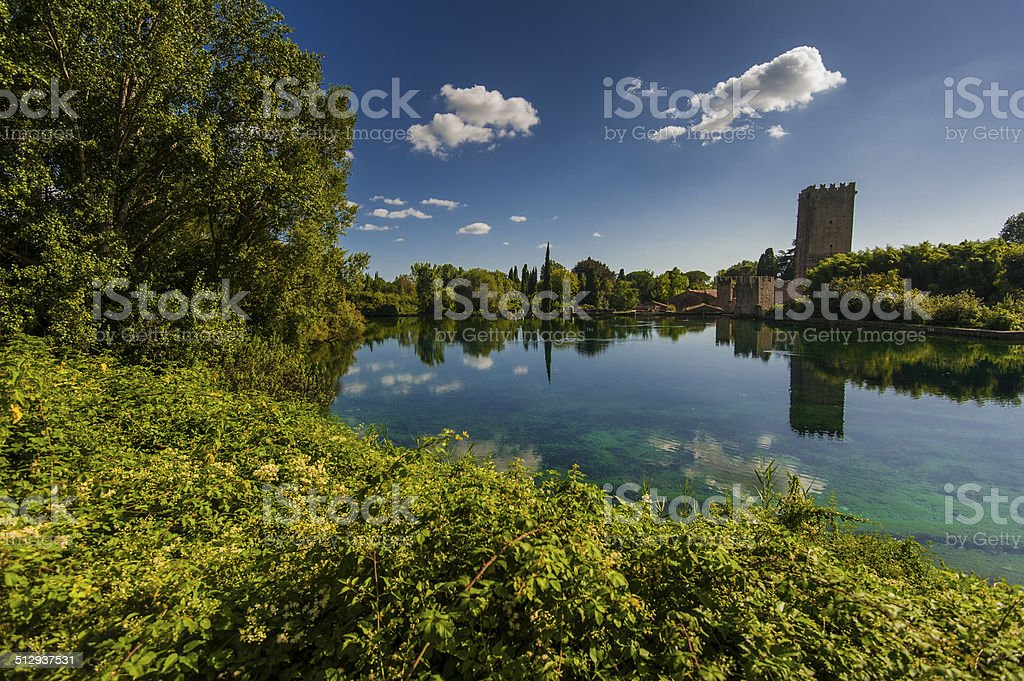 Ninfa Garden stock photo