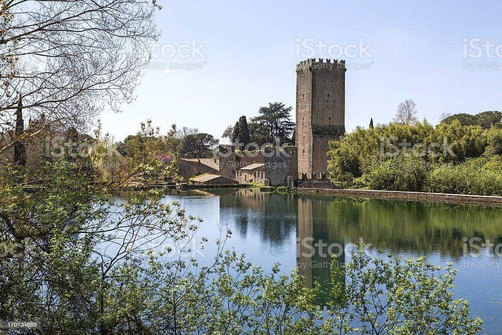 Ninfa Lake near Sermoneta, province of Latina, Lazio Italy royalty-free stock photo