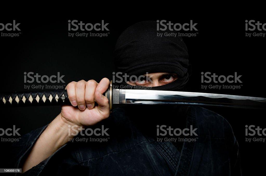 Ninja assassin stock photo