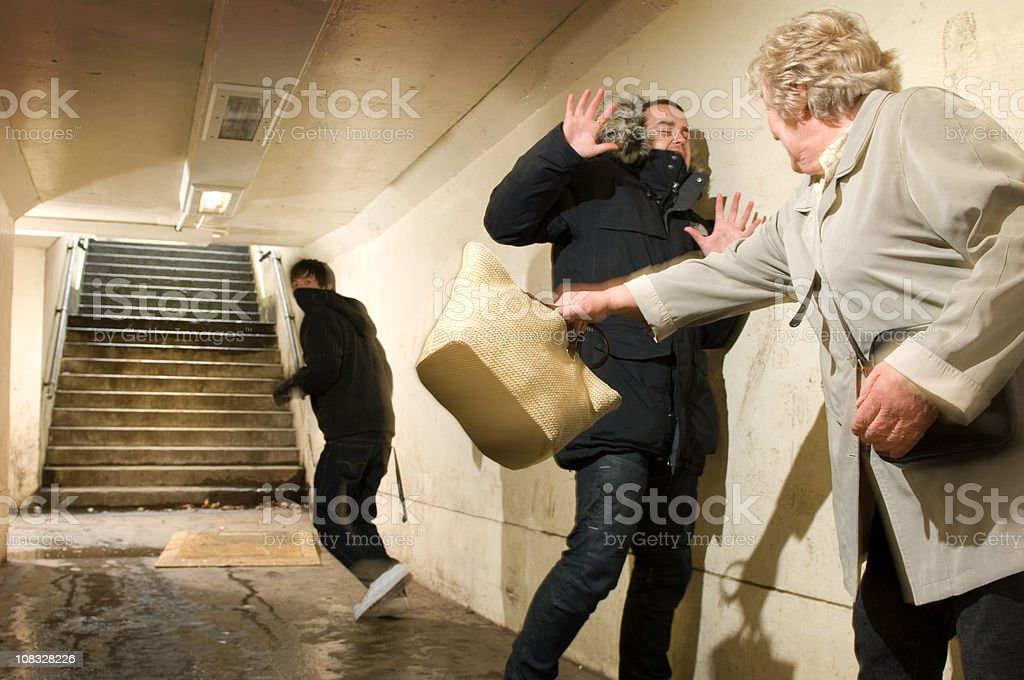 ninja grandma royalty-free stock photo