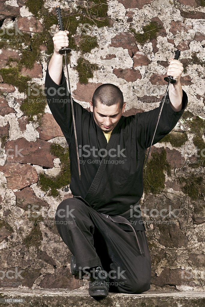 Ninja royalty-free stock photo