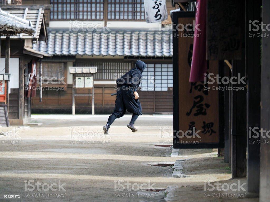 Ninja, Running stock photo