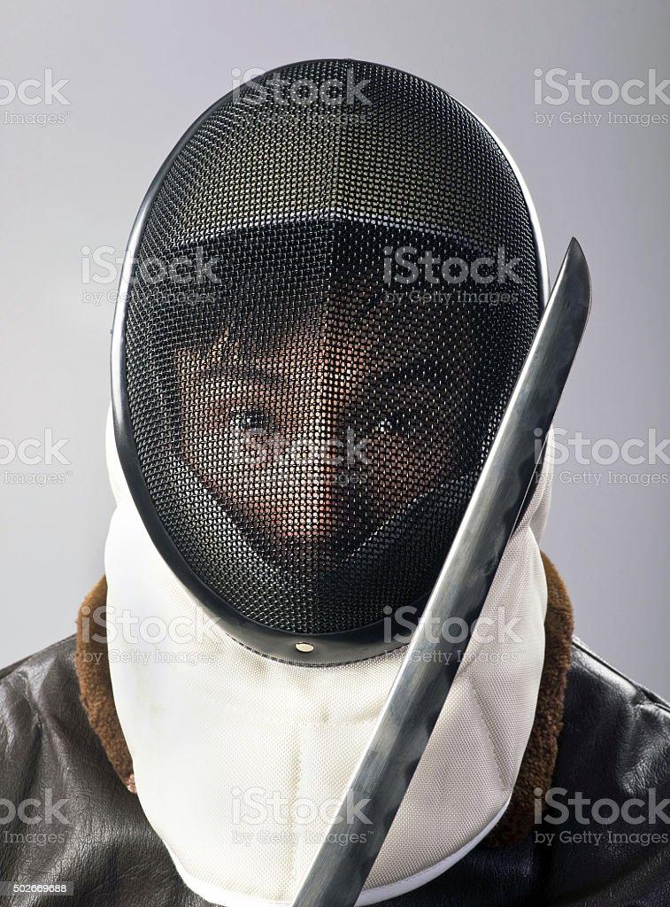 Ninja Warrior. stock photo