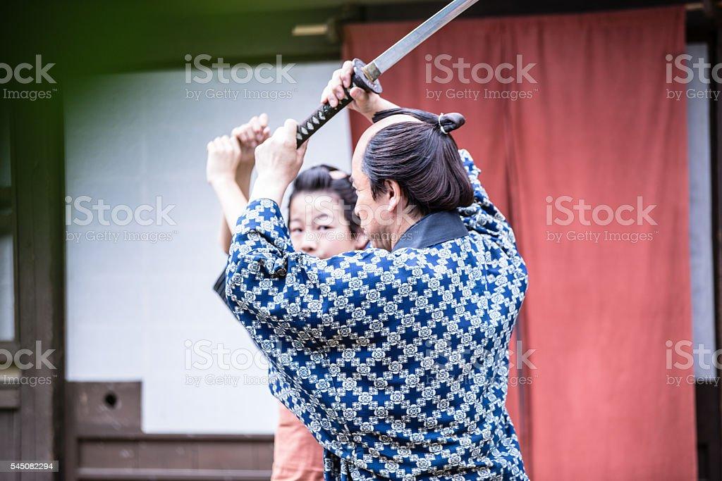 Ninja Warrior Training Young Student stock photo