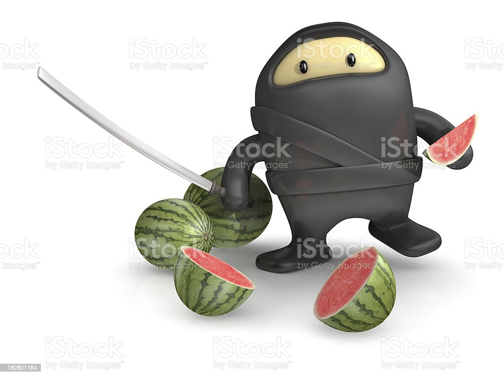 Ninja Watermelon stock photo