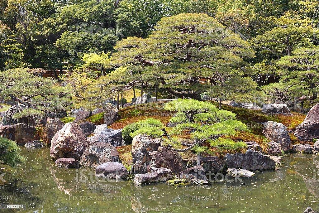 Ninomaru Garden, Kyoto stock photo