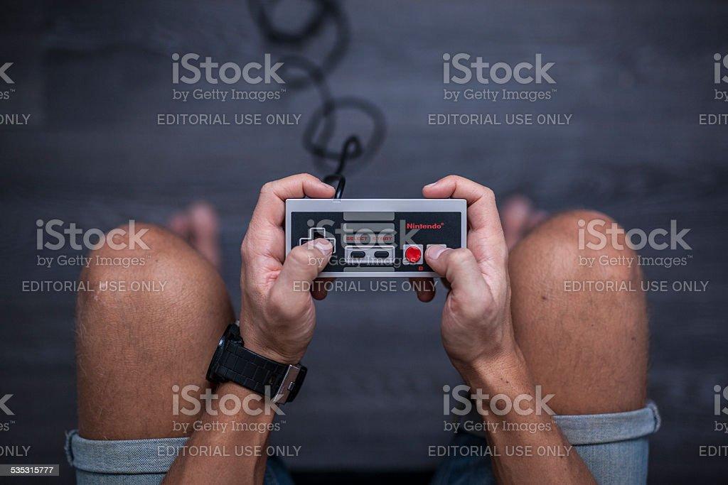 Nintendo Entertainment System - Video Game Controller stock photo