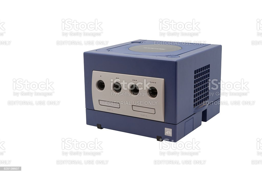 Nintendo Gamecube Console stock photo