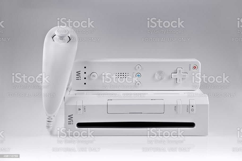Nintendo Wii game system stock photo