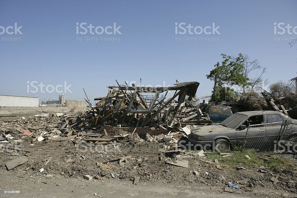 Ninth Ward Frame only by Industrial Canal stock photo