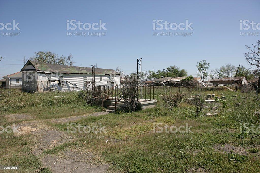 Ninth Ward Home after Hurricane Katrina stock photo