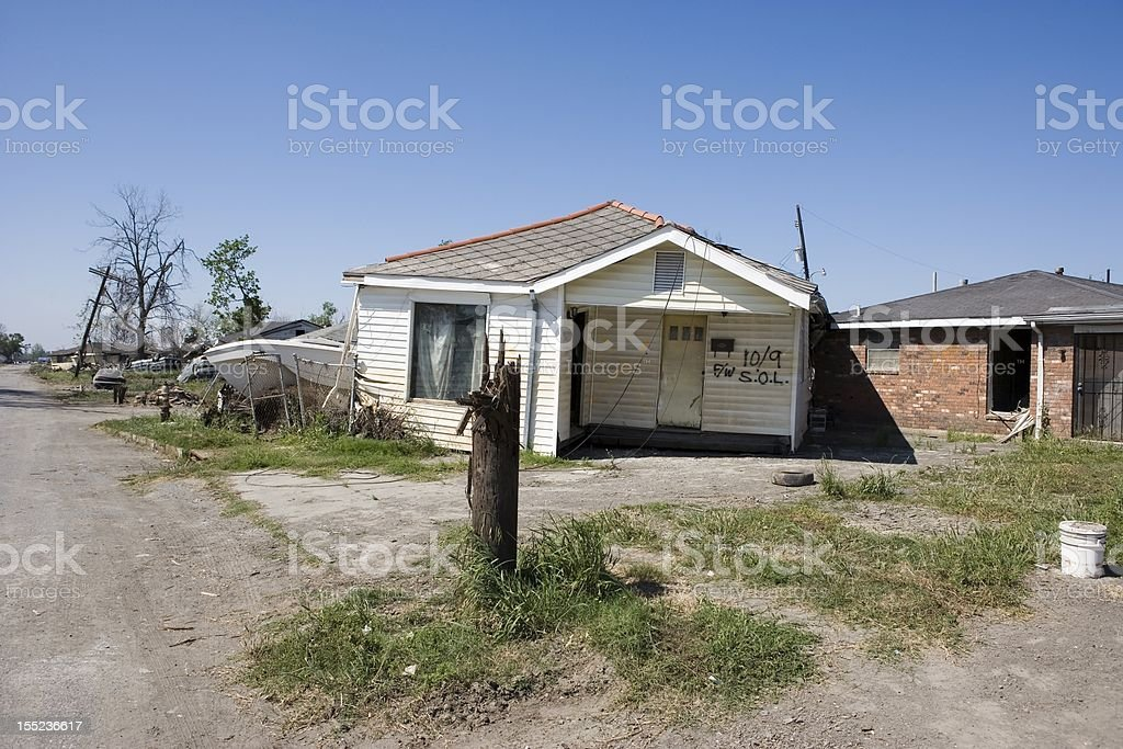 Ninth Ward Home royalty-free stock photo