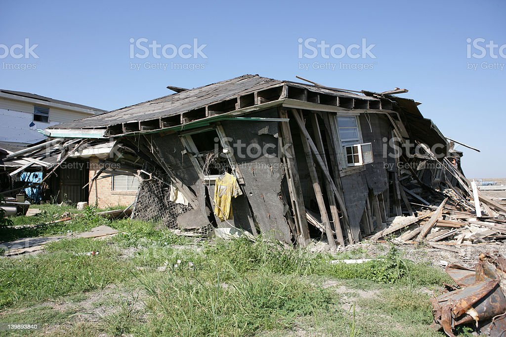 Ninth Ward house with jersey stock photo