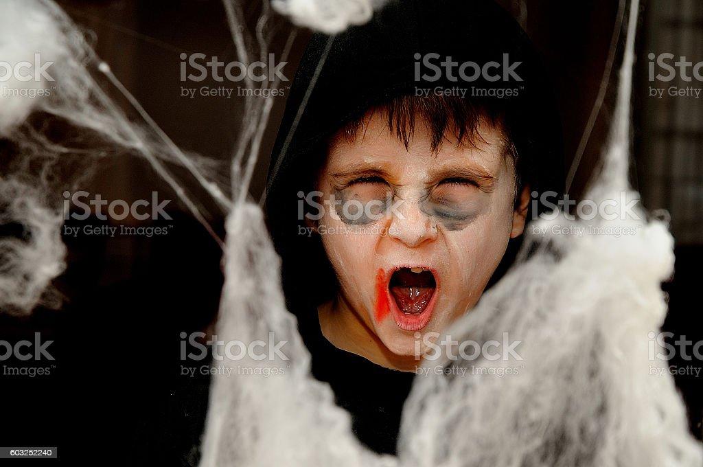 niño disfrazado para halloween royalty-free stock photo