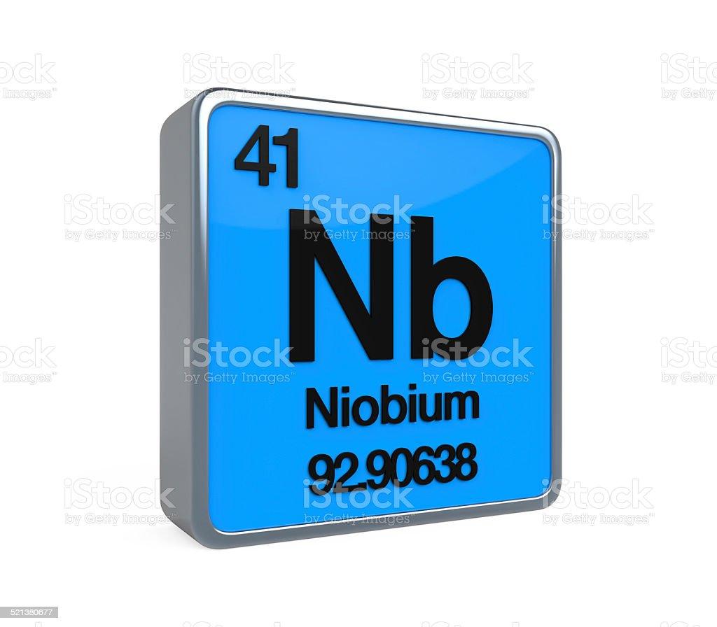 Niobium Element Periodic Table stock photo