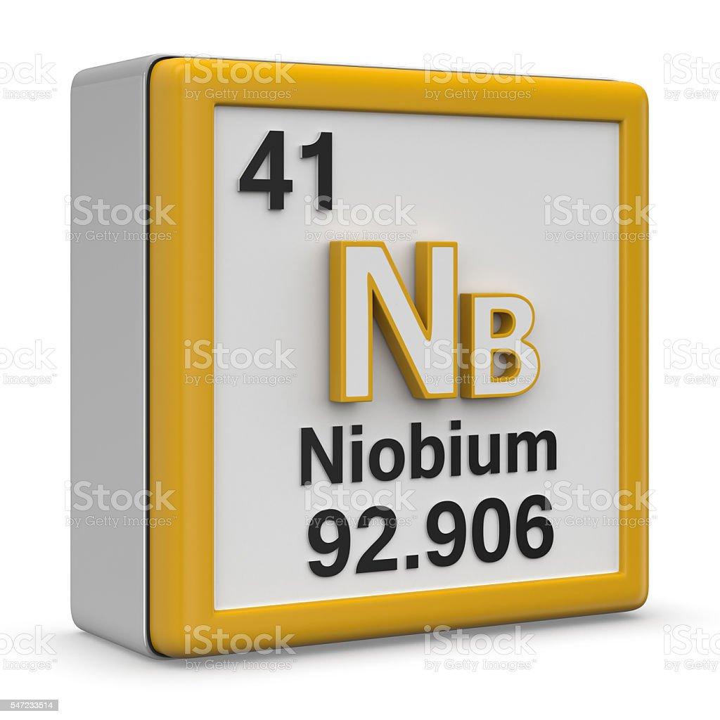Niobium element stock photo