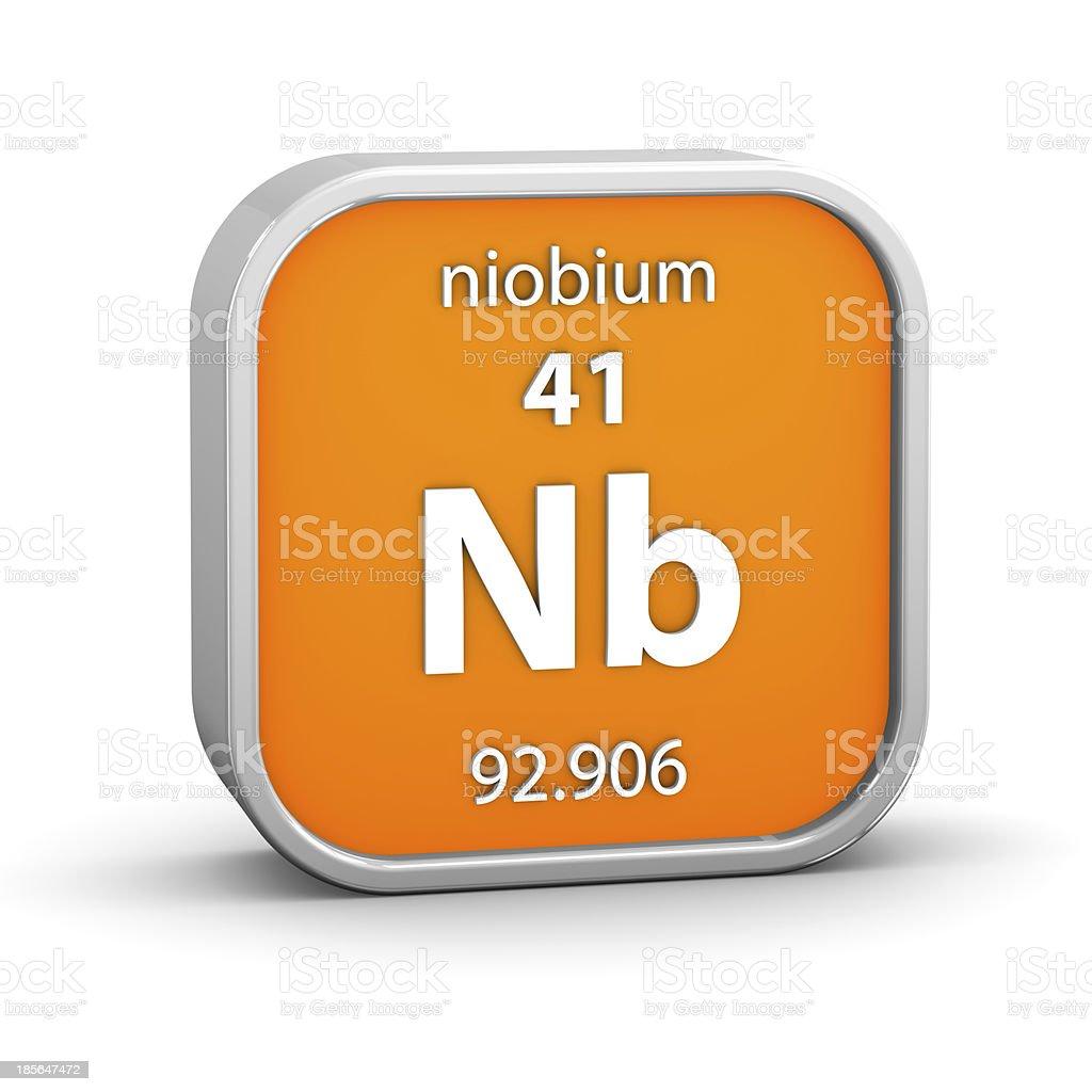 Niobium material sign stock photo