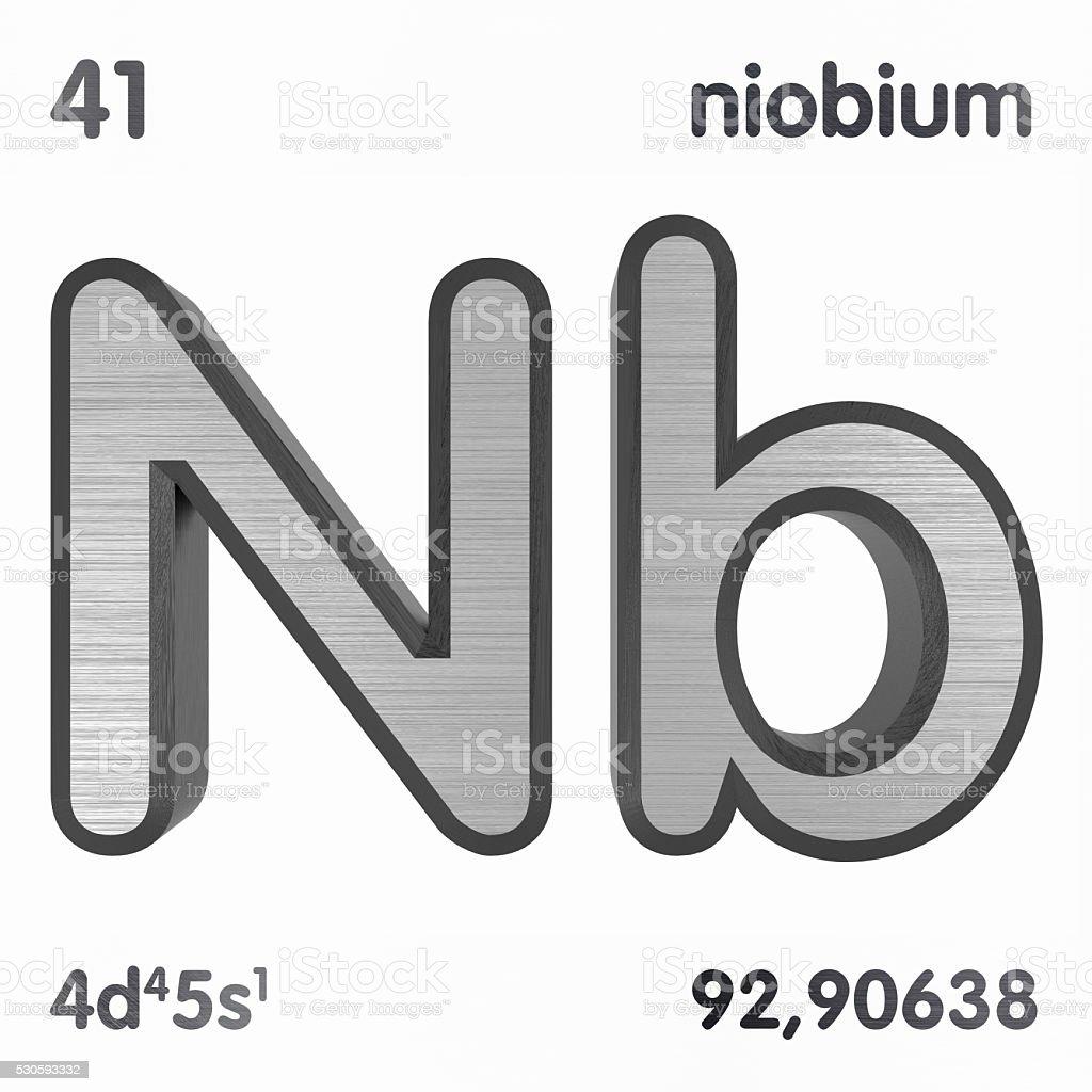 Niobium stock photo