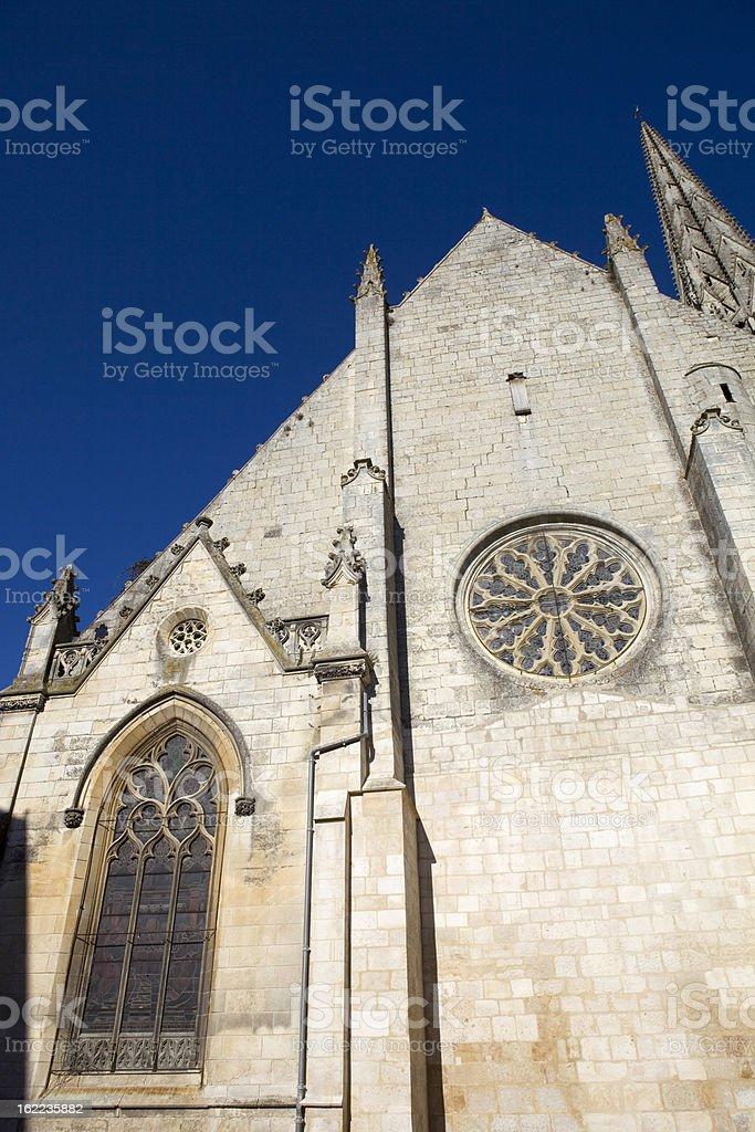 Niort church royalty-free stock photo