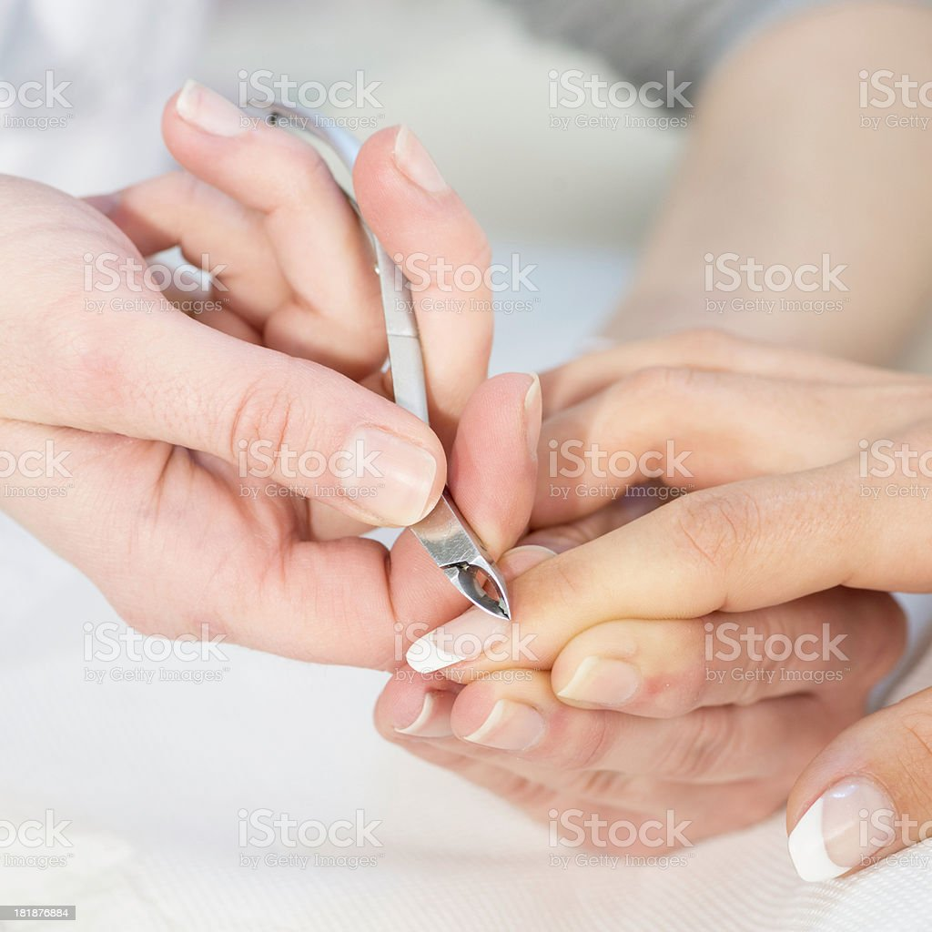 Nipping cuticles royalty-free stock photo